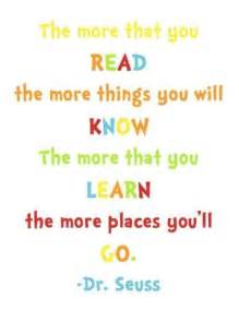 the more you read dr seuss quotes
