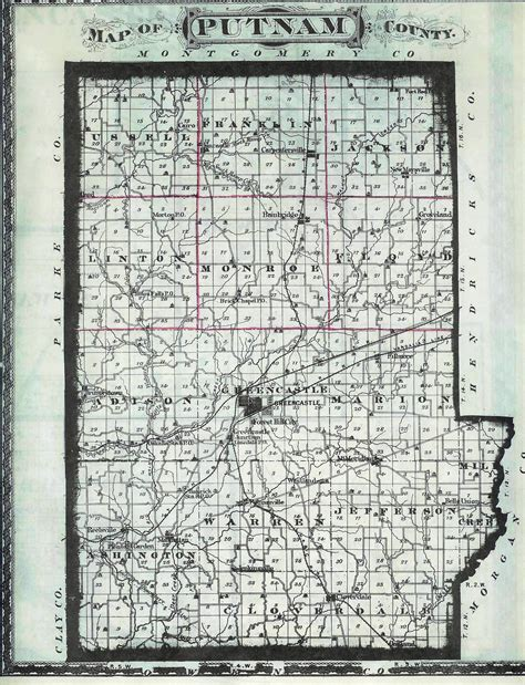 Putnam County Indiana Records 100 County Map Of Indiana 1917 Indiana State Highway Map And State Highway