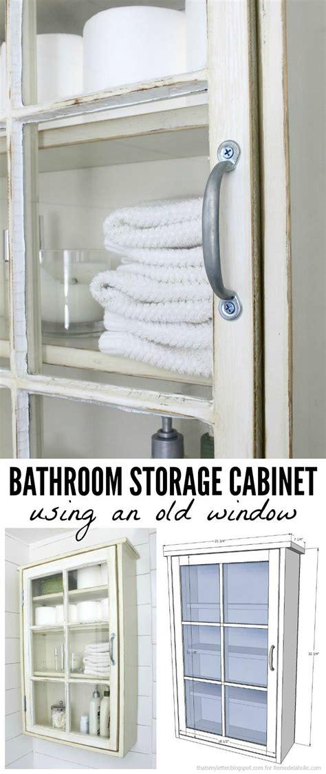 build a bathroom cabinet remodelaholic bathroom storage cabinet using an window