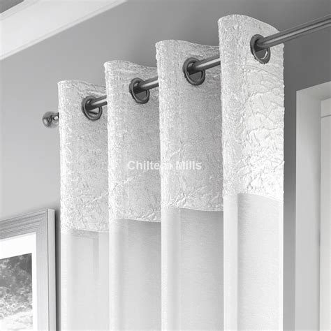 voile curtain panel white eyelet voile panel chiltern mills