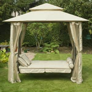 Outdoor Gazebo Swing Bed by Greenfingers Regency Swing Bed Gazebo Natural On Sale