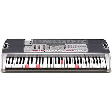 casio keyboard light up keys casio lk 210 61 key light up keyboard lk 210 b h photo video