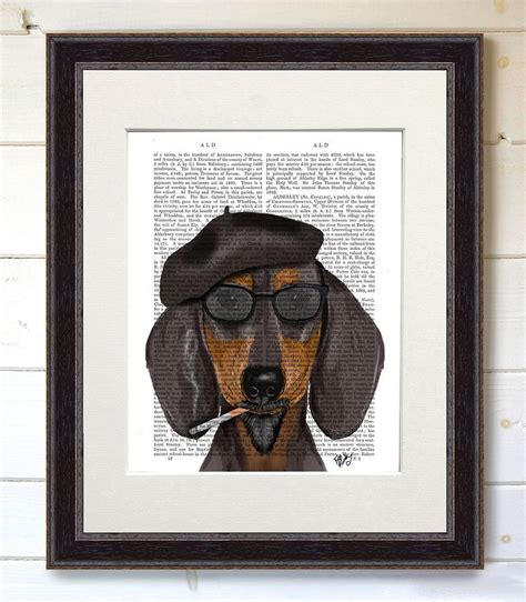 dachshund print dachshund queen by fabfunky home decor dachshund dog print hipster dachshund by fabfunky home