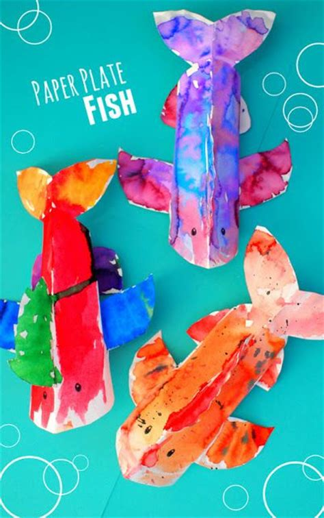 colorful 3d paper plate fish craft and our 10 favorite