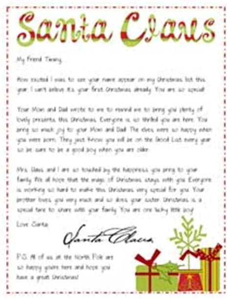Parent Letter To Kid About Santa Letter From Santa