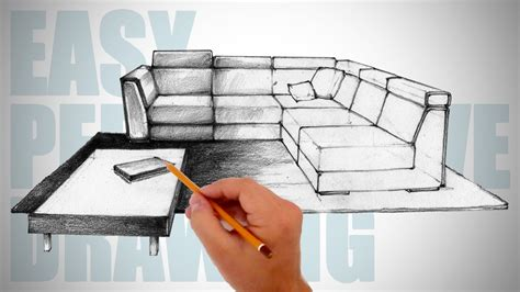 How To Draw 3d Furniture by How To Draw Furniture Easy Perspective Drawing 12