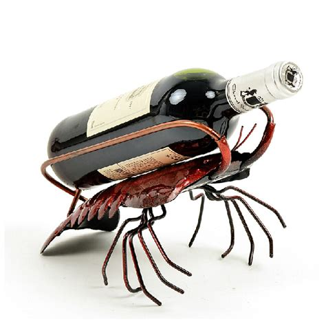 Rak Botol Wine penjualan panas lobster pemegang anggur botol rak rak