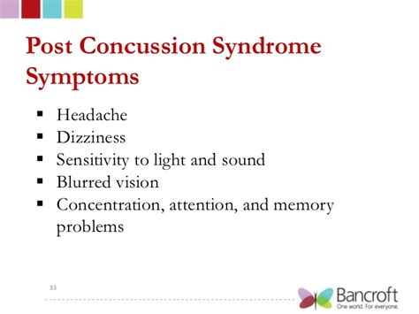concussion and light sensitivity bancroft sports concussions