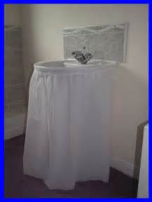 bathroom sink skirts bathroom sink skirt transforms your sink ebay