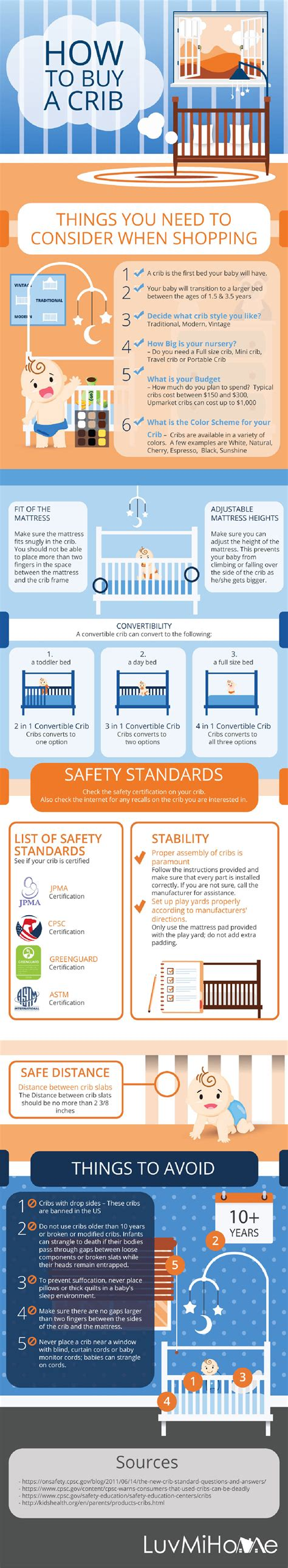 buying a baby crib do s and don ts of buying a baby crib infographic