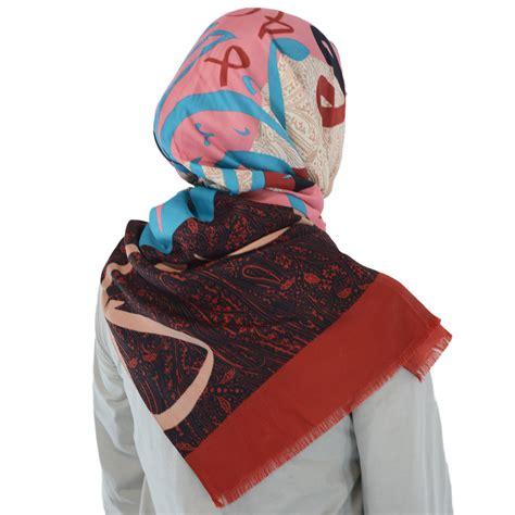 paisley pattern hijab stylish arabic calligraphy shayla hijab with paisley