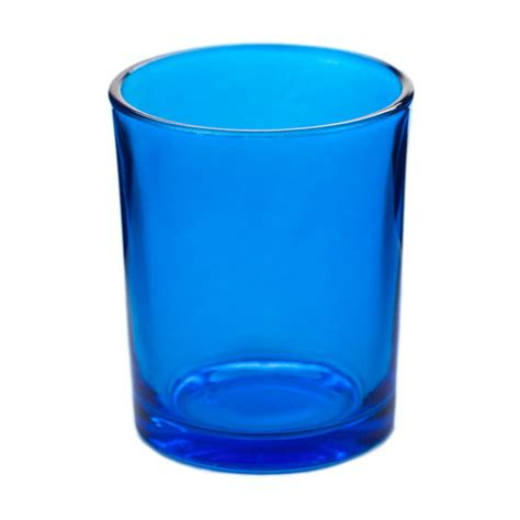 Glass Votive Candle Holders Blue Glass Votive Candle Holder