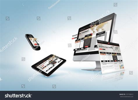 homepage design concepts web design concept stock illustration 131753612 shutterstock