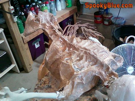 spookyblue 187 paper mache skeleton