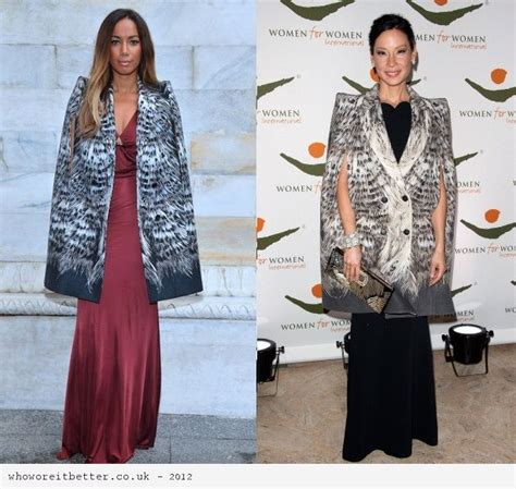 Who Wore Roberto Cavalli Better Nelly Furtado Or Tinsley Mortimer by Pin Cape Coats On