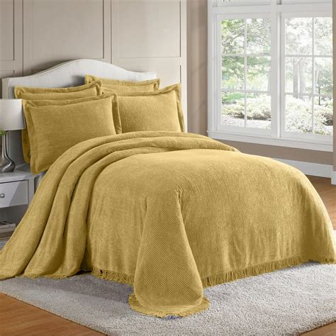 Yellow Bedspreads Yellow Chenille Bedspread Decor Ideasdecor Ideas