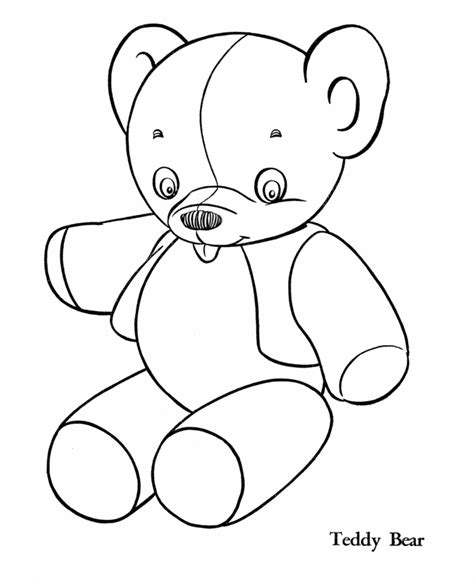Printable Coloring Pages Of Stuffed Animals | stuffed animal coloring pages coloring home
