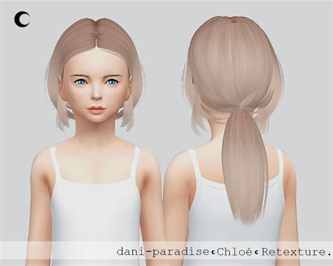 the sims 4 hair for female kids the sims resource kalewa a chloe child hair retextured sims 4 hairs