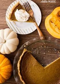 homemade pumpkin pie made from a fresh pumpkin ashlee