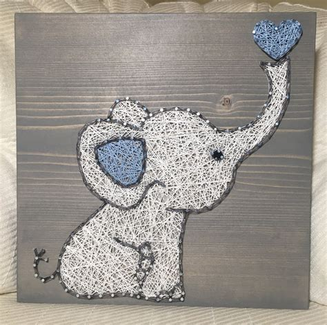 Elephant String - custom elephant string sign baby elephant by