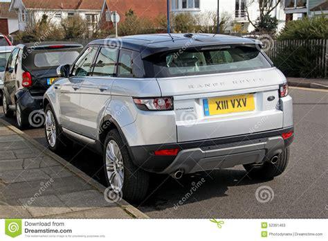 silver range rover evoque range rover evoque sports editorial stock photo image