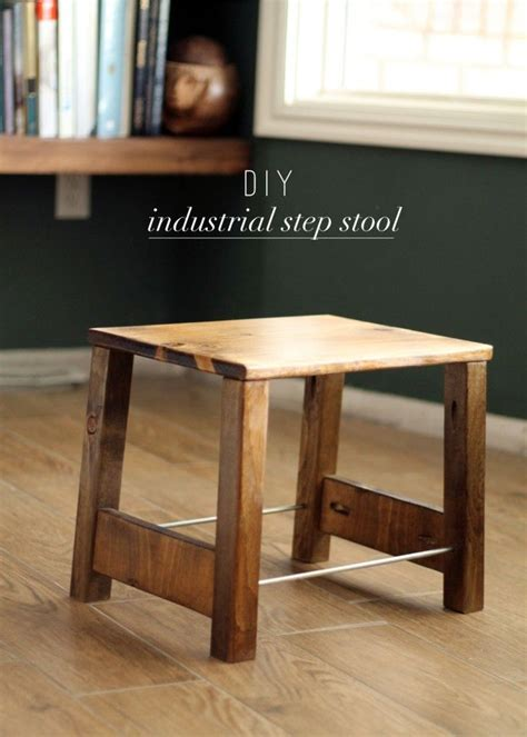 diy industrial step stool furniture step stools  metals