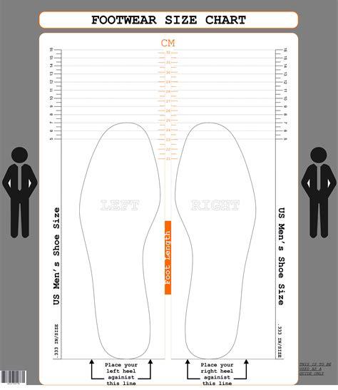 printable shoe size chart mens us men s size cm printable shoe size chart foot