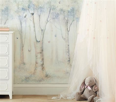 pottery barn wall murals lhuillier ethereal mural pottery barn