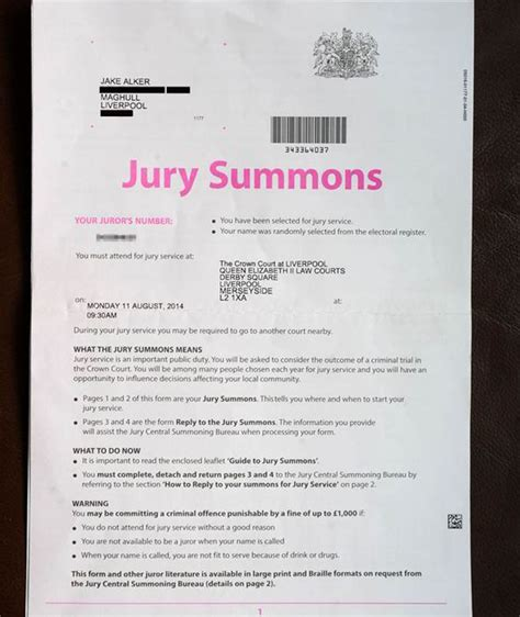 Jury Service Letter Uk Ten Year Boy Summoned For Jury Service Uk News Express Co Uk