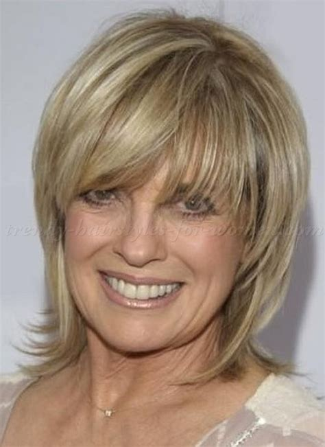 hair styles for the older woman with shoulder length hair medium hairstyles over 50 linda grey layered haircut for