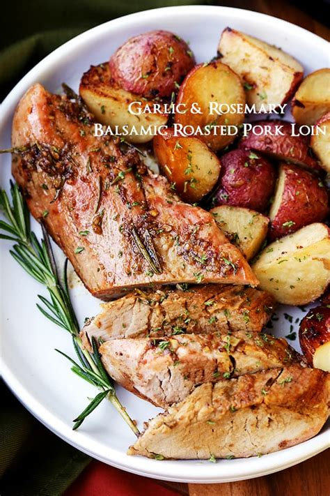 balsamic roast beef in oven garlic rosemary balsamic roasted pork loin maria s