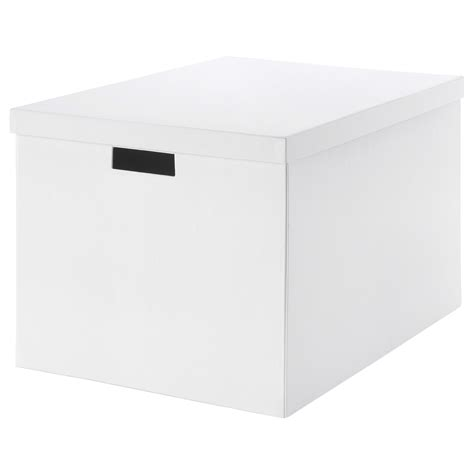 ikea storage box tjena storage box with lid white 35x50x30 cm ikea