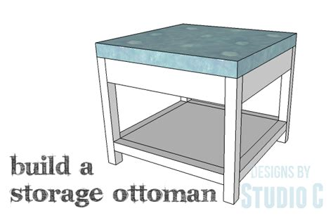 storage ottoman plans a simple to build ottoman with storage designs by studio c