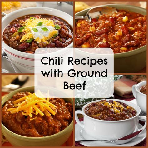 easy chili recipes with ground beef mrfood com