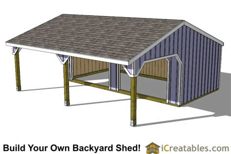 Run In Shed Plans by Run In Lean To Shed Plans Barn Barn Plans