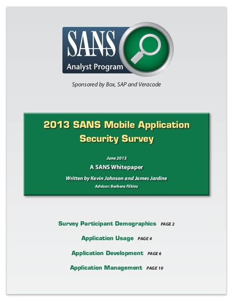 2013 mobile application security survey