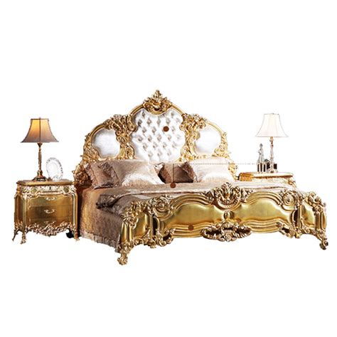 Baroque Bed Frame Baroque Bed Frame Modern Leather Soft Bed Baroque Bed Italian Luxury Furniture European