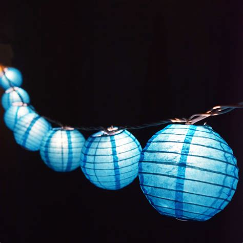 4 Quot Turquoise Round Shaped Party String Lights Ebay Lantern String Light