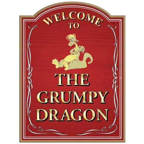 Home Bar Signs Jaf Graphics Personalised Grumpy Home Bar Sign