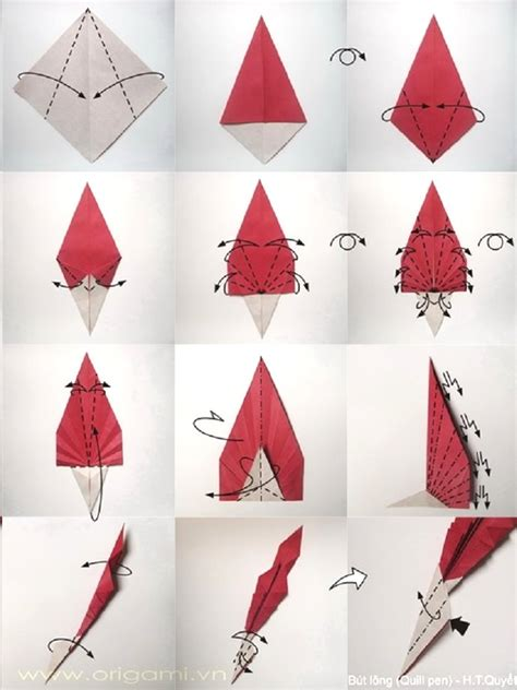 Origami One - feather origami