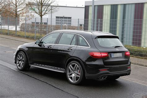 first mercedes mercedes amg glc 63 test prototype seen for the first time