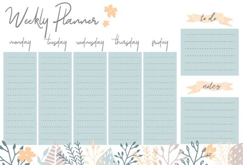 daily planner template ai weekly planner with flowers stationery organizer for