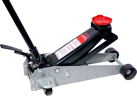 shop td industrial   ton floor jack wfoot pump