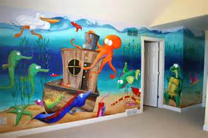 Under The Sea Wall Murals Wall Decal Quotes Wall Mural Ideas For Kids Under The Sea
