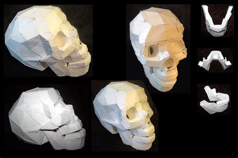 paper skull model by playalindask8er1 on deviantart