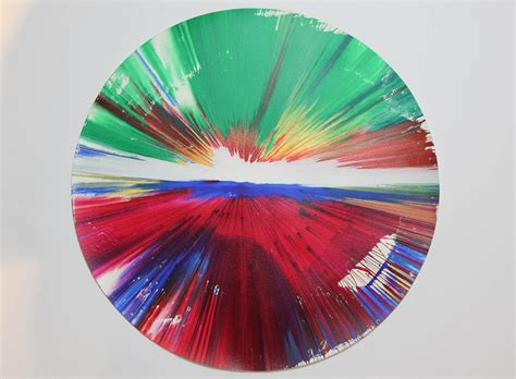 painting spin spinpaintings damien hirst spin paintings