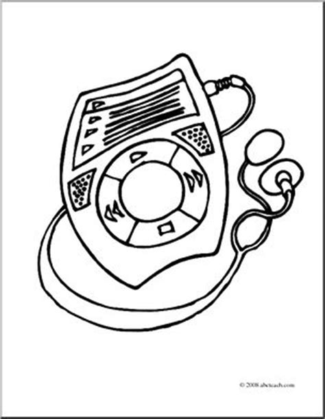 Clip Mp3 Player Coloring Page Abcteach