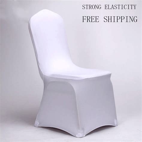 Banquet Chair Covers For Sale by 10 Pcs Universal White Stretch Spandex Chair Covers For