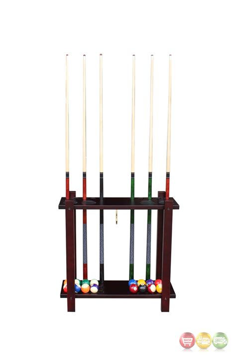 Eight Rack by Carmelli 8 Cue Deluxe Billiards Rack In Walnut With Drink