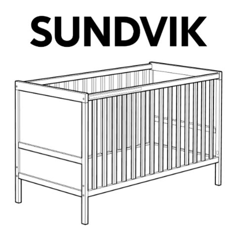 Cribs Parts by Sundvik Crib Replacement Parts Furnitureparts
